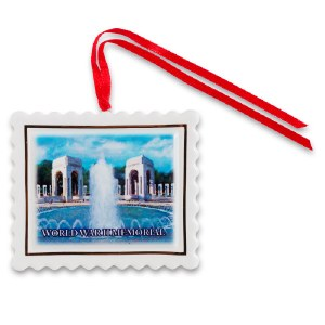 World War II Memorial Porcelain Ornament