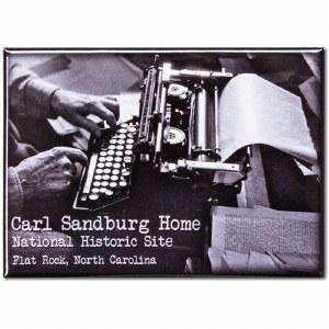 Carl Sandburg Typewriter Magnet