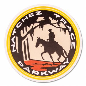 Natchez Trace Parkway Post Rider Decal
