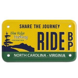 Blue Ridge Parkway Specialty Motorcycle License Plate