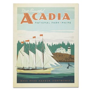 Acadia National Park Classic Travel Poster