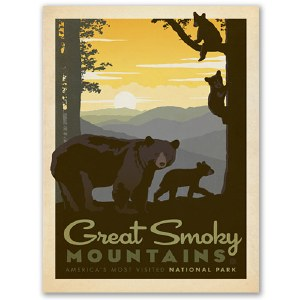 Great Smoky Mountains Classic Travel Poster