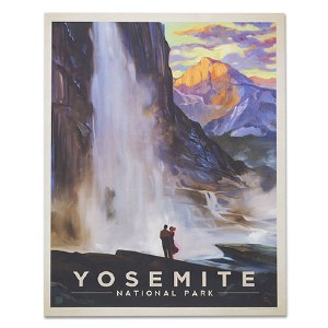 Yosemite National Park Classic Travel Poster