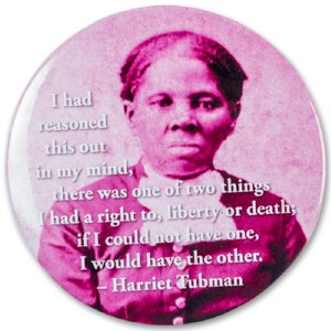 """Harriet Tubman """"Liberty or Death"""" Round Quote Magnet"""