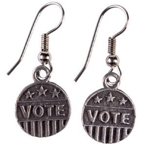 Pewter ''VOTE'' Earrings