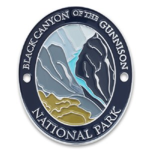 The Black Canyons Gunnison River Walking Stick Medallion