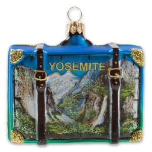 Yosemite National Park Suitcase Holiday Ornament