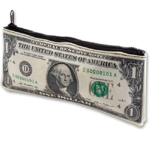 $1 US Banknote Zipper Pouch