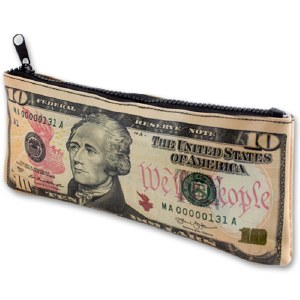 $10 US Banknote Zipper Pouch
