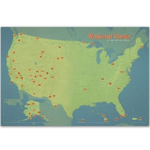 Natural Earth National Parks Collector Pins Map