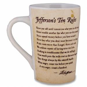 Jefferson's Ten Rules Mug