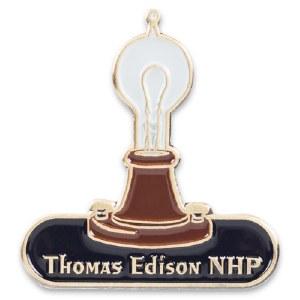 Thomas Edison NHP Collectible Light Bulb Pin