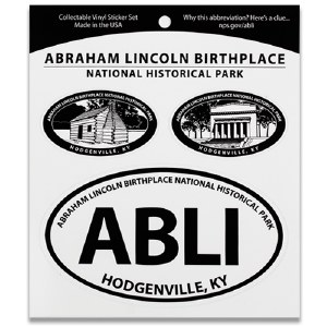 Abraham Lincoln Birthplace NHP Triple Decal