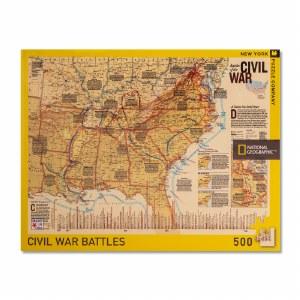 Battles of the Civil War Map Puzzle