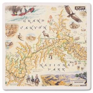 Grand Canyon Map Coaster