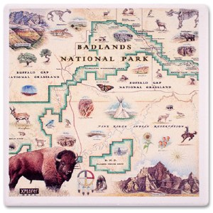 Badlands Map Coaster