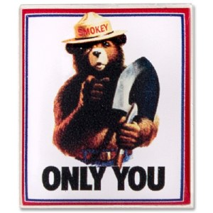 ''Only You'' Smokey Bear Pin