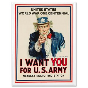 WWI Centennial I Want You Magnet