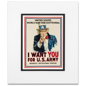 WWI I Want You Matted Print