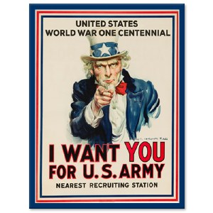 WWI Centennial Decal I Want You