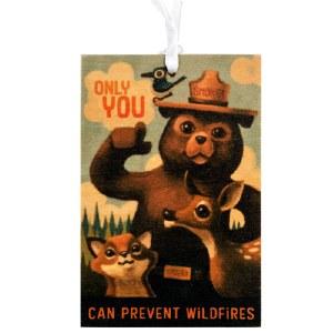 Wood Smokey Bear Ornament