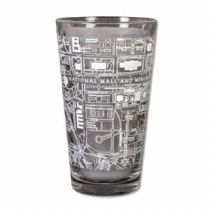National Mall Map Pint Glass