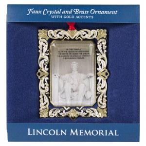 Lincoln Memorial Brass Ornament