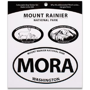 Mount Rainier NP Triple Decal