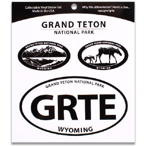 Grand Teton NP Triple Decal