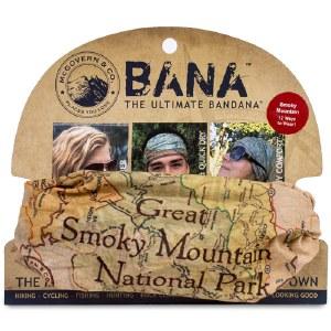Great Smoky Mountains Map Bana Bandana