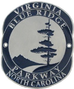 Blue Ridge Parkway Walking Stick Medallion