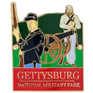Gettysburg Cannon Hiking Stick Medallion