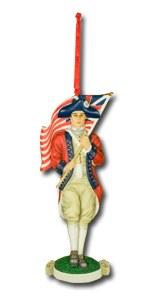 Colonial Flag Bearer Ornament