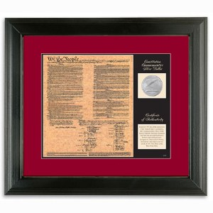 Birth of a Nation Constitution Framed Document and Coin
