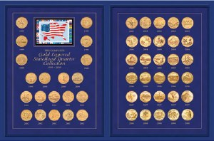 The Complete Gold-Layered Statehood Quarter Collection (1999-2008)