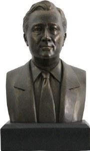 Franklin Delano Roosevelt Bronze Bust
