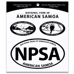 National Park of American Samoa Triple Decal