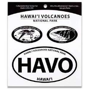 Hawai'i Volcanoes NP Triple Decal