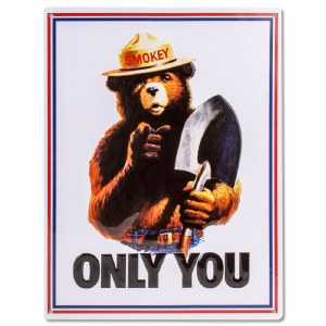 Smokey Bear Tin Poster