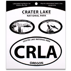 Crater Lake NP Triple Decal