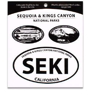 Sequoia & Kings Canyon National Parks Triple Decal
