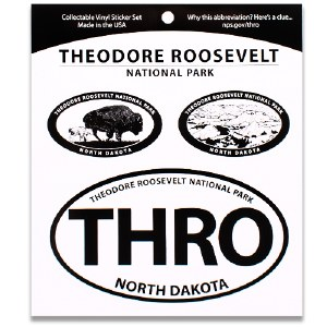Theodore Roosevelt NP Triple Decal