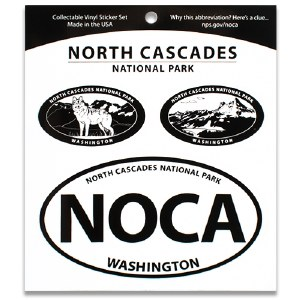 North Cascades NP Triple Decal