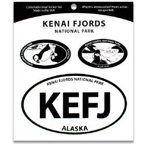 Kenai Fjords NP Triple Decal