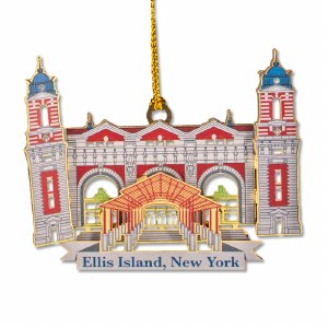 Ellis Island 3D Ornament