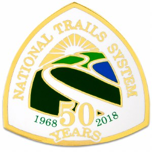National Trails Anniversary Pin