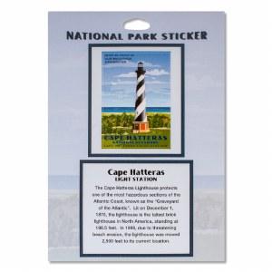 Retro Cape Hatteras Lighthouse Sticker