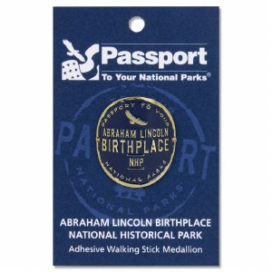 Lincoln Birthplace Passport Hiking Medallion