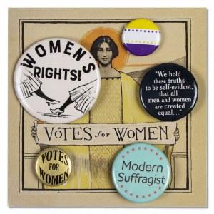 Votes for Women Button Set