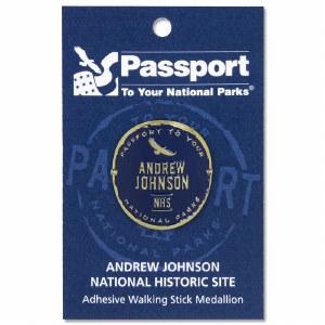Andrew Johnson Passport Hiking Medallion